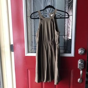 Olive Green Sleeveless Dress